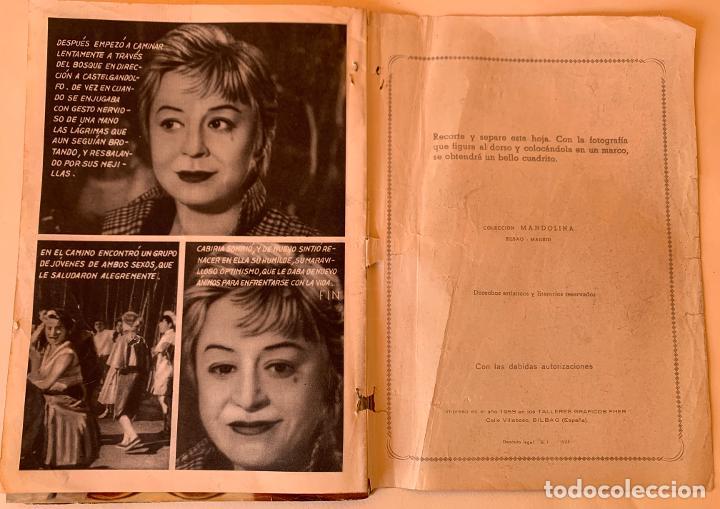 Cine: Las noches de Cabiria.Completa 6 ejemplares.Colección Mandolina Cine Ensueño. Fher Bilbao 1959. - Foto 2 - 212951508