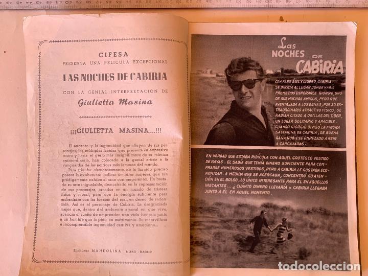 Cine: Las noches de Cabiria.Completa 6 ejemplares.Colección Mandolina Cine Ensueño. Fher Bilbao 1959. - Foto 4 - 212951508