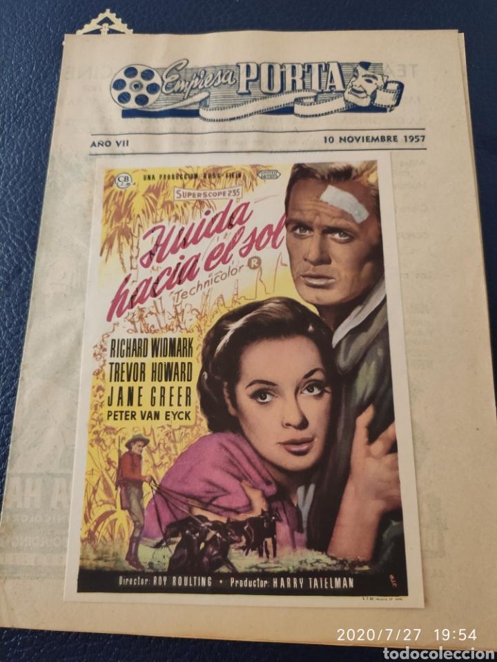 2 CIRCUITOS CINEMATOGRÁFICOS AÑO 1957 (Cine - Reproducciones de carteles, folletos...)