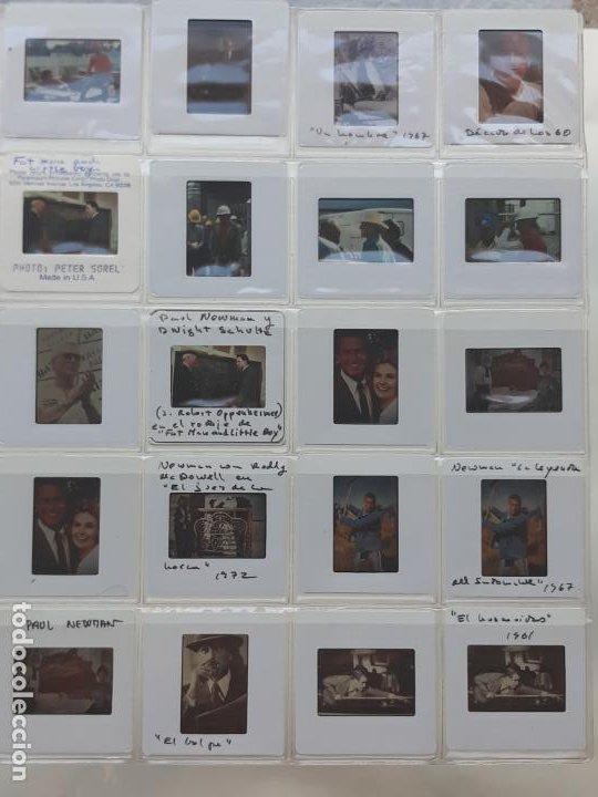 LOTE DE 62 DIAPOSITIVAS DEL ACTOR DE CINE: PAUL NEWMAN. (Cine - Revistas - Colección ídolos del cine)