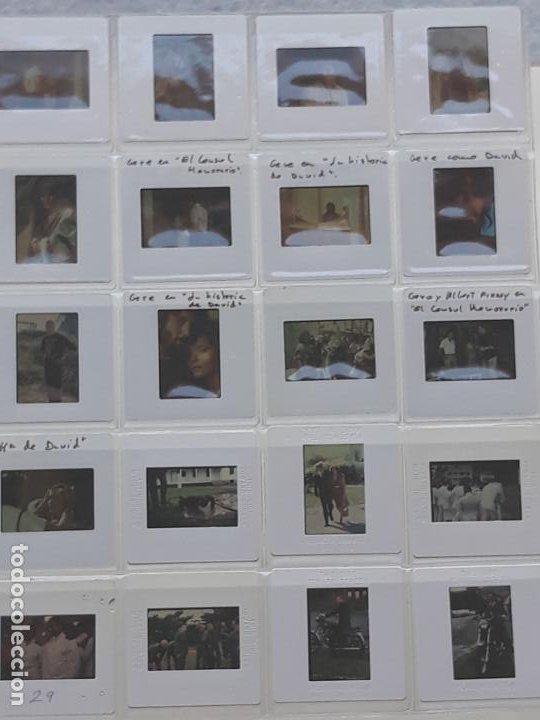 LOTE DE 59 DIAPOSITIVAS DEL ACTOR DE CINE: RICHARD GERE (Cine - Revistas - Colección ídolos del cine)
