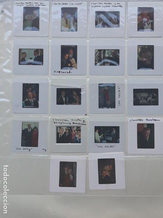 LOTE DE 18 DIAPOSITIVAS DEL ACTOR DE CINE: CHARLTON HESTON (Cine - Revistas - Colección ídolos del cine)