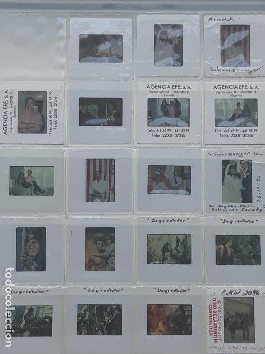 LOTE DE 27 DIAPOSITIVAS DEL ACTOR DE CINE: ARNOLD SCHWARENNEGER (Cine - Revistas - Colección ídolos del cine)