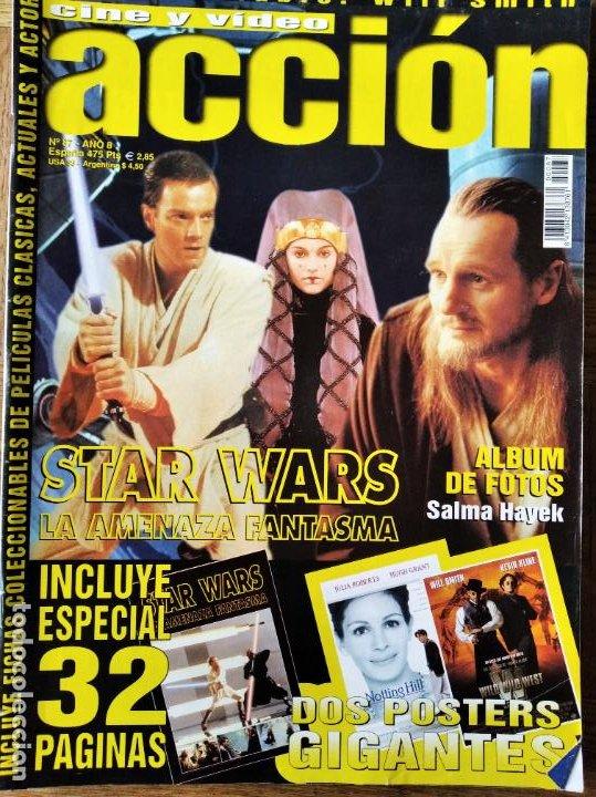 ACCION Nº 87 DE 1999- STAR WARS EPISODIO I LA AMENAZA FANTASMA- WILD WILD WEST- NAJWA NIMRI- BARDEM (Cine - Revistas - Acción)