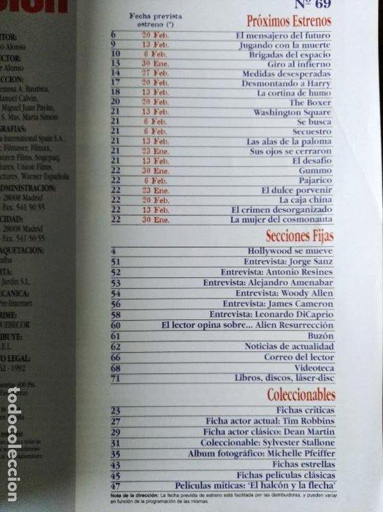 Cine: ACCION Nº 69 DE 1997- TITANIC- WOODY ALLEN- AMENABAR- STARSHIP TROOPERS- SYLVESTER STALLONE- COSTNER - Foto 2 - 213636292
