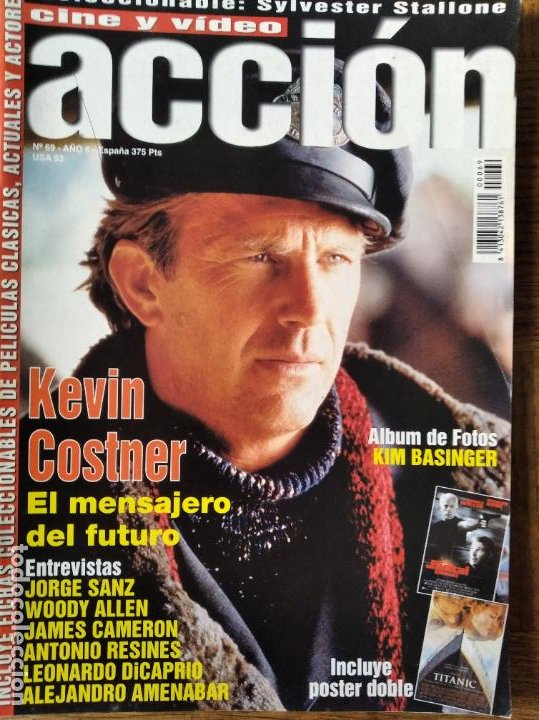 ACCION Nº 69 DE 1997- TITANIC- WOODY ALLEN- AMENABAR- STARSHIP TROOPERS- SYLVESTER STALLONE- COSTNER (Cine - Revistas - Acción)