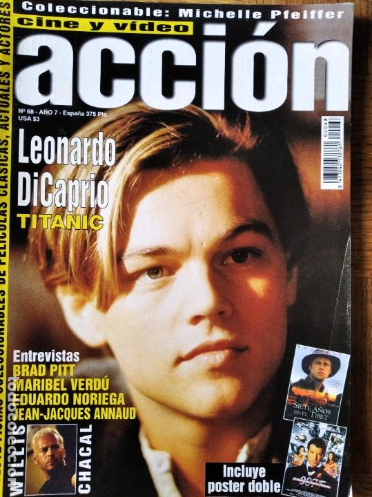ACCION Nº 68 DE 1997- TITANIC- BRAD PITT- MARIBEL VERDU- MICHELLE PFEIFFER- AL PACINO- 007 EL MAÑANA (Cine - Revistas - Acción)