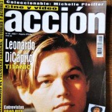 Cine: ACCION Nº 68 DE 1997- TITANIC- BRAD PITT- MARIBEL VERDU- MICHELLE PFEIFFER- AL PACINO- 007 EL MAÑANA. Lote 213637671