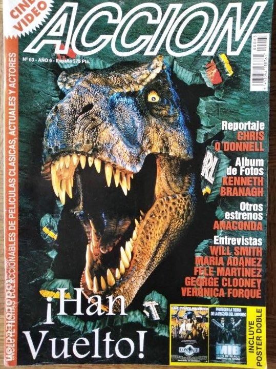 ACCION Nº 63 DE 1997- EL MUNDO PERDIDO- MEN IN BLACK- CON AIR- EL QUINTO ELEMENTO- CLOONEY GEORGE... (Cine - Revistas - Acción)