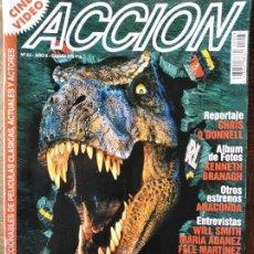 Cine: ACCION Nº 63 DE 1997- EL MUNDO PERDIDO- MEN IN BLACK- CON AIR- EL QUINTO ELEMENTO- CLOONEY GEORGE.... Lote 213640990