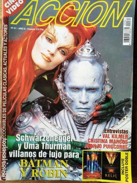 ACCION Nº 61 DE 1997- BATMAN & ROBIN- EL QUINTO ELEMENTO- MICHELLE PFEIFFER- MICHAEL J FOX- VAL KILM (Cine - Revistas - Acción)