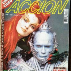 Cine: ACCION Nº 61 DE 1997- BATMAN & ROBIN- EL QUINTO ELEMENTO- MICHELLE PFEIFFER- MICHAEL J FOX- VAL KILM. Lote 213642177