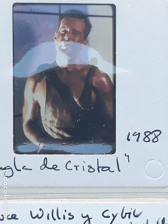 Cine: LOTE DE 23 DIAPOSITIVAS DEL ACTOR DE CINE : BRUCE WILLIS. - Foto 3 - 213728575