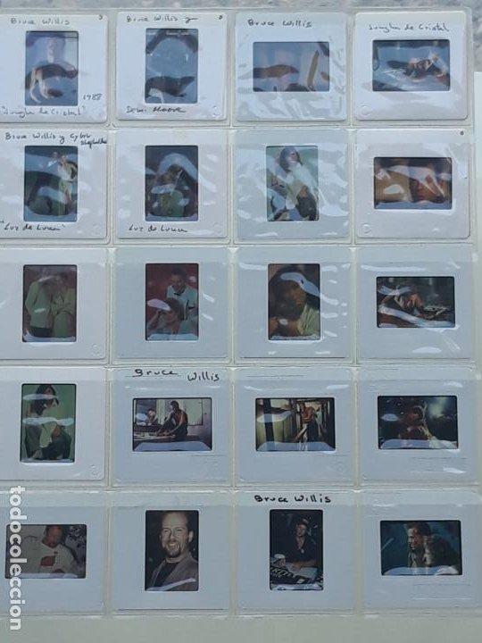 LOTE DE 23 DIAPOSITIVAS DEL ACTOR DE CINE : BRUCE WILLIS. (Cine - Revistas - Colección ídolos del cine)