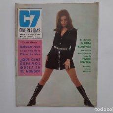 Cine: CINE EN 7 DIAS MAYO 1969 Nº 421 GREGORY PECK FRANK SINATRA, MARISOL MASSIEL, MARISA MELL. Lote 214118970