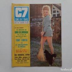 Cine: CINE EN 7 DIAS MAYO 1969 Nº 422 GINA LOLLOBRIGIDA TONY CURTIS. Lote 214119342