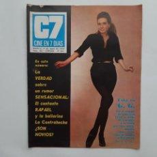 Cine: CINE EN 7 DIAS MAYO 1969 Nº 423, RAPAEL , MARISOL, ¿GUARDIA URBANO?. Lote 214119711