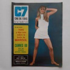 Cine: CINE EN 7 DIAS MAYO 1969 Nº 424 TODO Y ALGO MAS SOBRE LA BODA DE MARISOL, LINDA MORAND. Lote 214120388