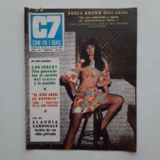 Cine: CINE EN 7 DIAS JUNIO 1969 Nº 427, ROBERT TAYLOR, PAUL NEWMAN, LOS ISBERT, SONIA Y PIRRI VISPERA BODA. Lote 214125147