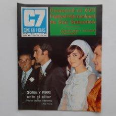 Cine: CINE EN 7 DIAS JUNIO 1969 Nº 428 BODA SONIA Y PIRRI ANTE EL ALTAR, RAQUEL WELCH, FLORIDA PARK FLORES. Lote 214153700