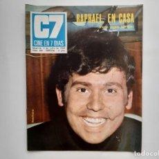Cine: CINE EN 7 DIAS JULIO 1969 Nº 430 RAPHAEL EN CASA, LA VUELTA DE MARISOL, SAN SEBASTIAN. Lote 214154032