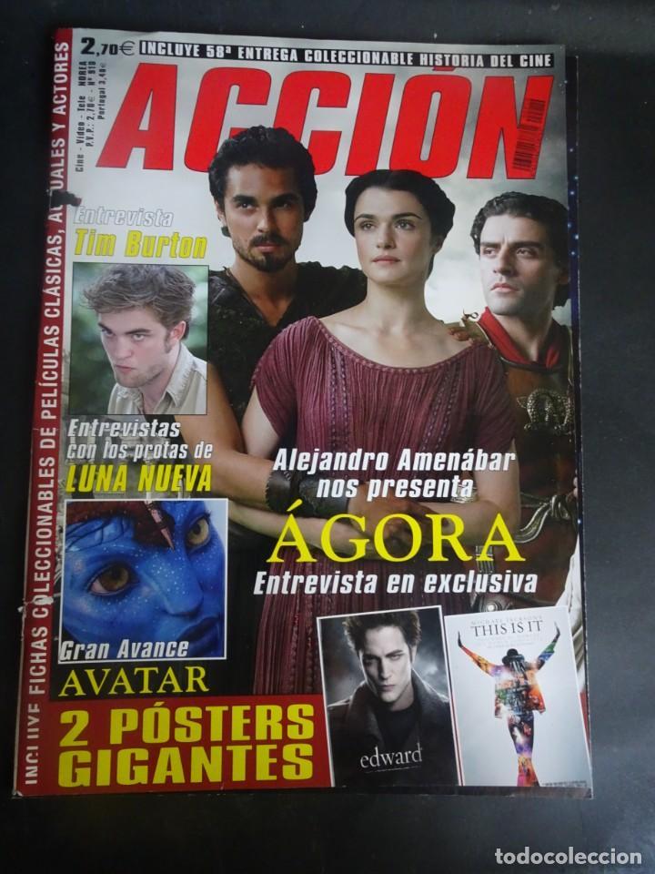 REVISTA ACCIÓN Nº 910 POSTER INCLUIDO, PORTADA SUELTA, VER FOTOS (Cine - Revistas - Acción)