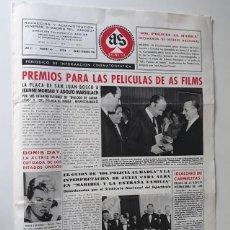 Cine: AS FILMS, PERIÓDICO DE INFORMACIÓN CINEMATOGRÁFICA Nº 40 - ENERO / FEBRERO 1961. Lote 214294050