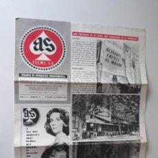 Cine: AS FILMS, PERIÓDICO DE INFORMACIÓN CINEMATOGRÁFICA Nº 44 - OCTUBRE/ DICIEMBRE 1961. Lote 214294191