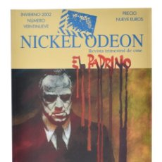 Cine: NICKEL ODEÓN. REVISTA TRIMESTRAL DE CINE, N.º 29. MONOGRÁFICO: EL PADRINO. NUEVO. Lote 214509707