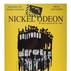 Cinéma: NICKEL ODEON. REVISTA TRIMESTRAL DE CINE, N.º 22. MCCARTHY Y LA INQUISICIÓN EN EL CINE. NUEVO. Lote 214557765