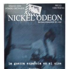 Cine: NICKEL ODEON. REVISTA TRIMESTRAL DE CINE, N.º 19. MONOGRÁFICO: LA GUERRA ESPAÑOLA EN EL CINE. NUEVO. Lote 286553663