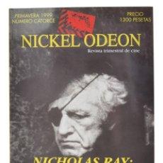 Cine: NICKEL ODEON. REVISTA TRIMESTRAL DE CINE, N.º 14. MONOGRÁFICO: NICHOLAS RAY. NUEVO. Lote 214579527
