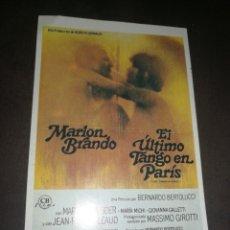 Cinema: MINI CARTELERA DE CINE, EL ÚLTIMO TANGO EN PARÍS. 9X13 CM. G. MARFIL.. Lote 214751826