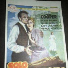 Cinema: MINI CARTEL CINE, SÓLO ANTE EL PELIGRO , 9X13 CM, G MARFIL.. Lote 214753013