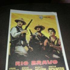 Cinema: MINI CARTEL CINE, RIO BRAVO , 9X13 CM, G MARFIL.. Lote 214753285