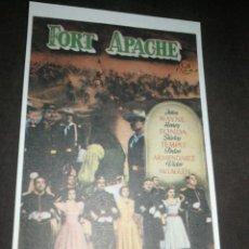 Cinema: MINI CARTEL CINE, FORT APACHE 9X13 CM, G. MARFIL .. Lote 214753815