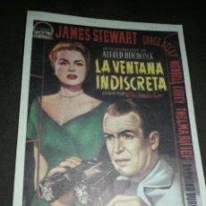 Cinema: MINI CARTEL CINE LA VENTANA INDISCRETA 9X13 CM, G. MARFIL .. Lote 214754303