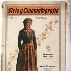 Cine: ARTE Y CINEMATOGRAFIA 1924 ANDREE LIONEL. Lote 214913512