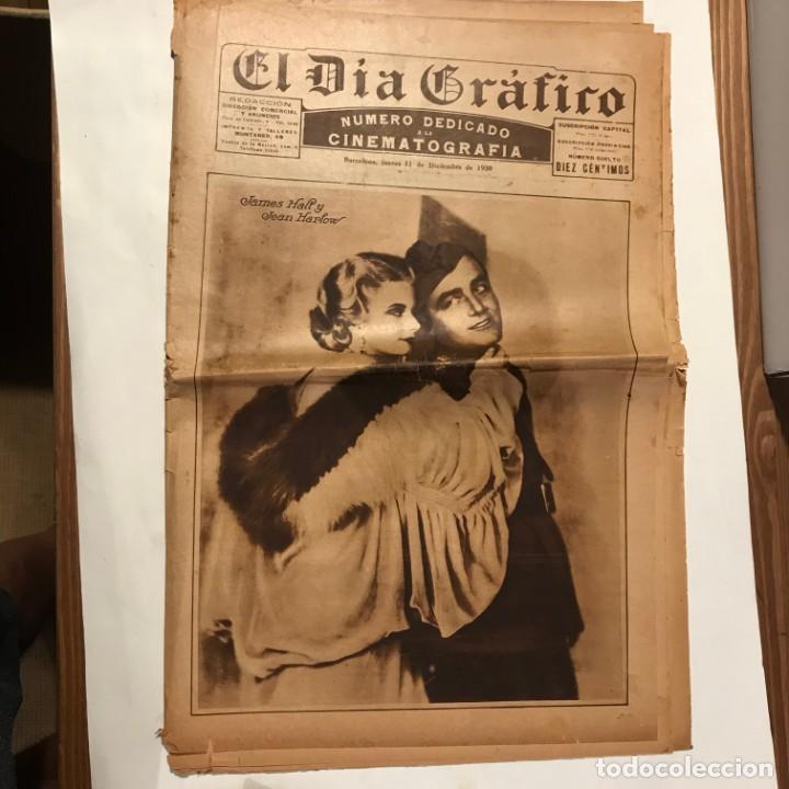 EL DIA GRAFICO 11 DICIEMBRE 1930 NUMERO DEDICADO A LA CINEMATOGRAFIA JAMES HALT JEAN HARLOW (Cine - Revistas - Otros)