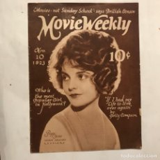 Cine: MOVIE WEEKLY NOV 1923. PEGY SHAW , LOIS WILSON HAROLD LLOYD BUSTER KEATON WILLIAM MURRAY. Lote 215134336