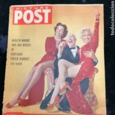Cine: REVISTA ORIGINAL CINE 1956 PORTADA MARILYN MONROE EN INGLÉS. Lote 215310033