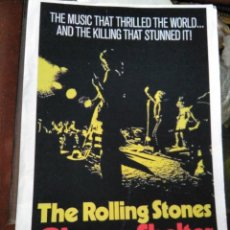 Cine: REPRODUCCIÓN CARTEL CINE ROCK THE ROLLING STONES GIMME SHELTER. Lote 215557695