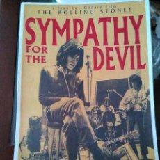 Cine: REPRODUCCIÓN CARTEL CINE ROCK THE ROLLING STONES SYMPATHY FOR THE DEVIL. Lote 215558011