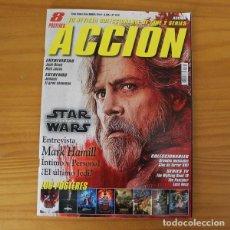 Cine: ACCION 1712 REVISTA COLECCIONABLE DE CINE Y SERIES. STAR WARS LOS ULTIMOS JEDI, MARK HAMILL.... Lote 215693205