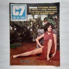 Cine: ANTIGUA REVISTA CINE 7 DIAS Nº 451 1969 AMPLIO REPORTAJE BODA MASSIEL BISSET HEPBURN SERRAT J,PARDO. Lote 215903098