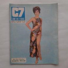 Cinema: ANTIGUA REVISTA CINE 7 DIAS Nº 452 1969 WELCH CATETO BABOR CONCHITA VELASCO MIGUEL RIOS ROCIO JURADO. Lote 215903380