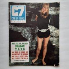 Cinema: ANTIGUA REVISTA CINE 7 DIAS Nº 453 1969 BUÑUEL RUEDA TRISTANA EASTWOOD MARVIN THE CASUALS LOS PAYOS. Lote 215903722