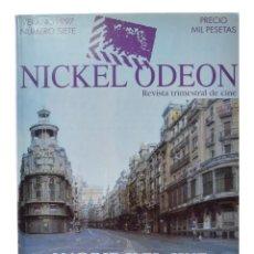 Cinema: NICKEL ODEON. REVISTA TRIMESTRAL DE CINE, N.º 7. MONOGRÁFICO: MADRID Y EL CINE. NUEVO. Lote 216389135