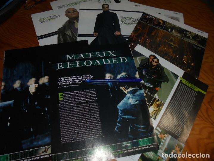 RECORTE : REPORTAJE PELICULA : MATRIX RELOADED. CINEMANIA, MAYO 2003 (Cine - Revistas - Cinemanía)