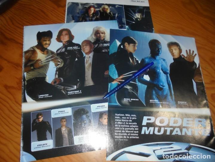 RECORTE : REPORTAJE PELICULA : X- MEN 2 ( PODER MUTANTE) . CINEMANIA, MAYO 2003 (Cine - Revistas - Cinemanía)